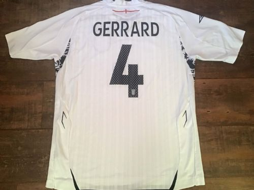 2007 2009 England Gerrard Home Football Shirt Large